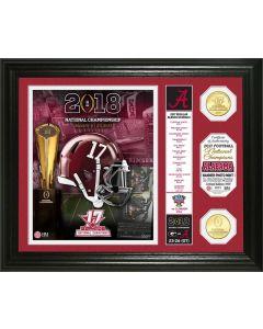 "Alabama Crimson Tide 2017 Football National Champions ""Banner"" Bronze Coin Photo Mint"