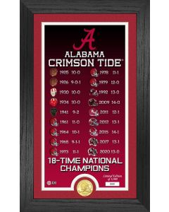 """Alabama Crimson Tide 18-Time National Champions """"Legacy"""" Bronze Coin Photo Mint"""