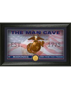 Marines Flag Man Cave Bronze Coin Photo Mint