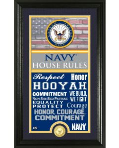 Navy Flag House Rules Bronze Coin Photo Mint