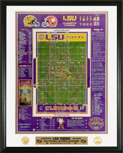 LSU 2019 National Champions Play by Play Bronze Coin Photo Mint