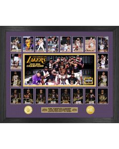 2020 NBA Champions Memorable Moments Los Angeles Lakers Bronze Coin Photo Mint