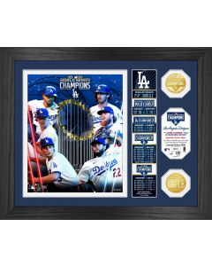 "Los Angeles Dodgers 2020 World Series Champions ""Banner"" Bronze Coin Photo Mint"