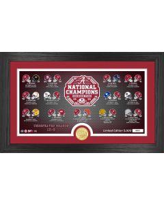 Alabama Crimson Tide 2020/21 College Football National Champions Panoramic Photo Mint