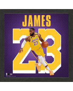 LeBron James Impact Jersey Framed Photo