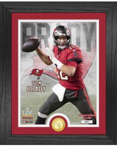 Tom Brady Buccaneers Super Bowl 55 Bronze Coin Photo Mint