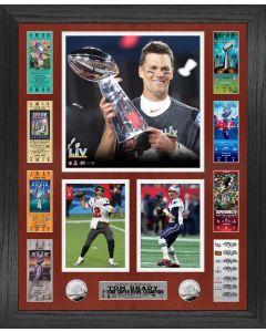 Tom Brady 7 Time Super Bowl Champion Ticket Photo Mint