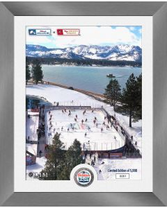 Avalanche vs Golden Knights NHL 2021 Lake Tahoe Outdoor Game Silver Coin Photo Mint