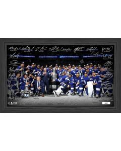 Tampa Bay Lightning 2021 Stanley Cup Final Champions Signature Rink