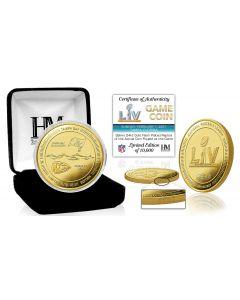 Kansas City Chiefs vs Tampa Bay Buccaneers Super Bowl 55 Gold Flip Coin