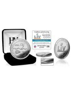 Kansas City Chiefs vs Tampa Bay Buccaneers Super Bowl 55 1oz .999 Fine Silver Flip Coin