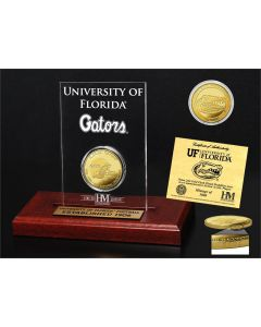 University of Florida 3-Time National Champions Gold Coin Etched Acrylic