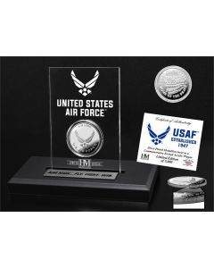 United States Air Force Silver Coin Etched Acrylic